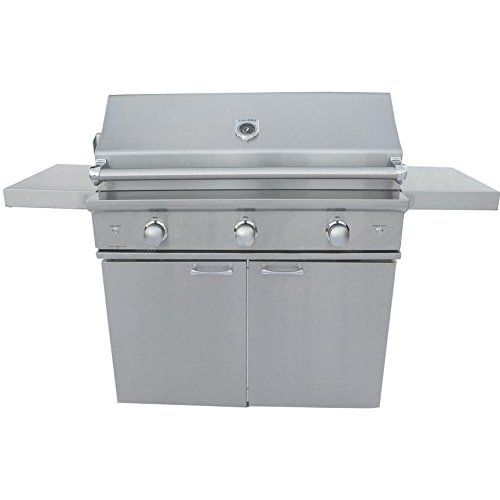 Caliber Crossflame Silver 35inch Freestanding Natural Gas Grill With Rotisserie You Can Get Additional Details Propane Gas Grill Gas Grill Natural Gas Grill