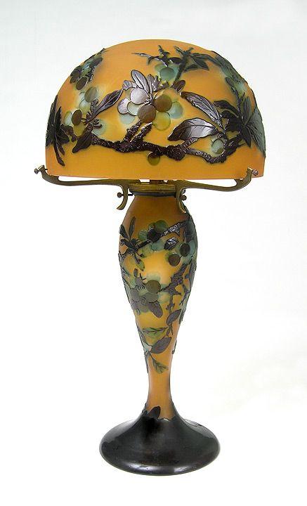 A fine Gallé Japanese Peach Blossom table lamp