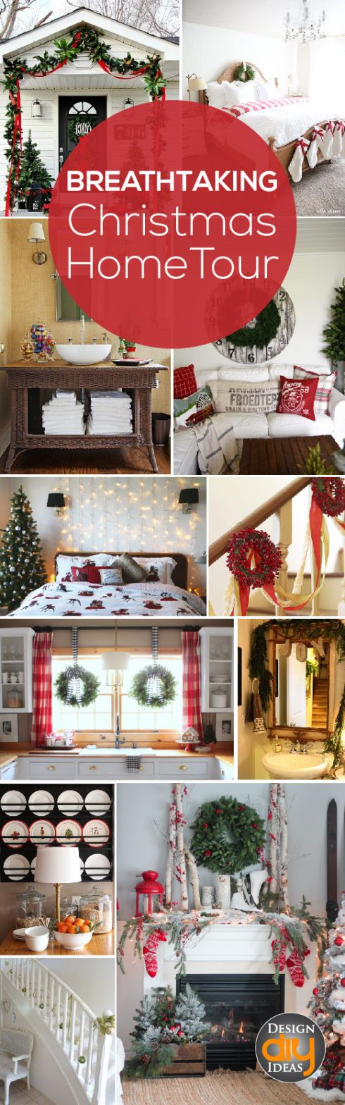 Breathtaking Christmas Home Tour- Great eye candy for any home decor - christmas home decor