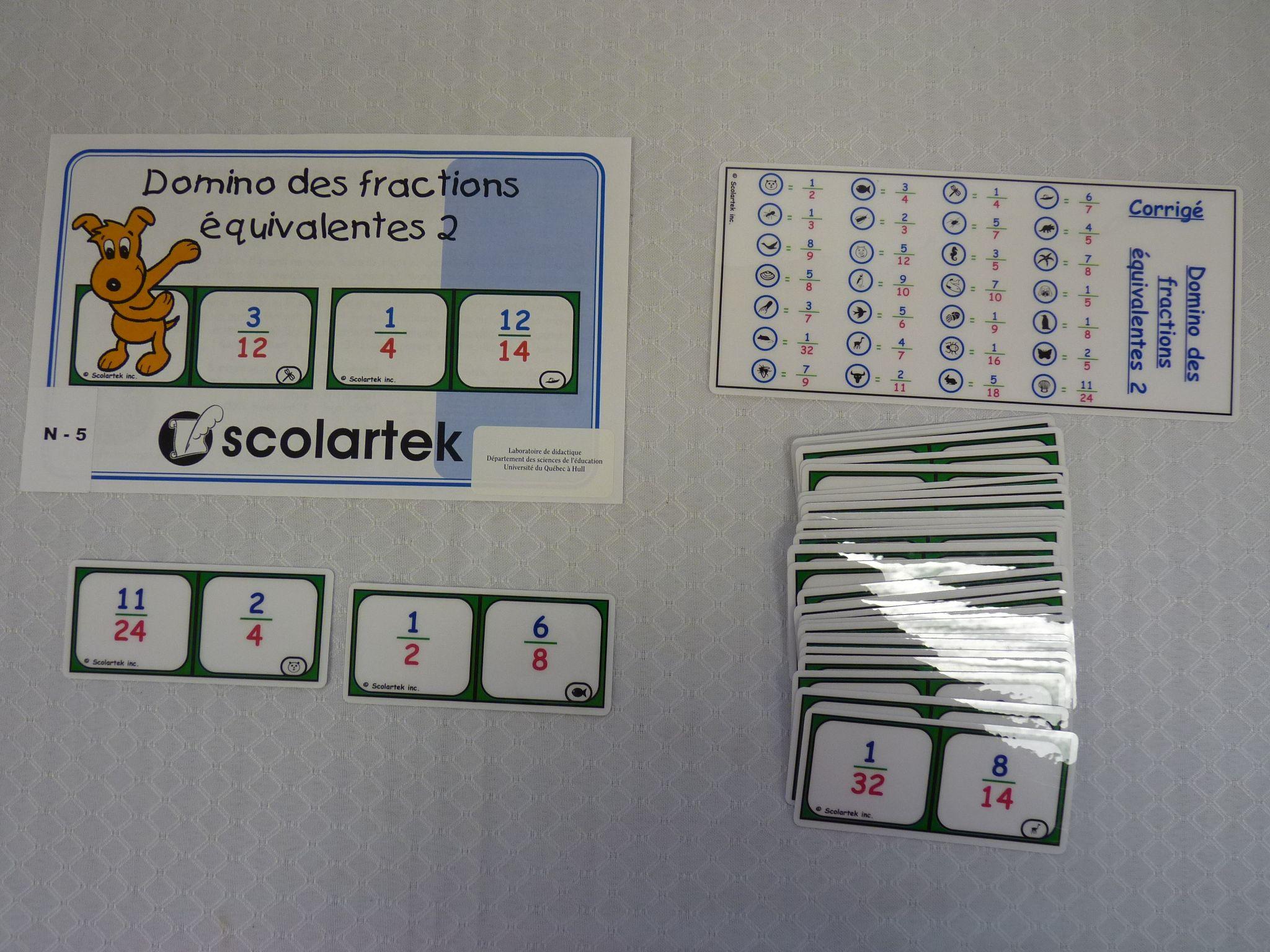 Titre Domino Des Multiplications De Fractions 2 Cote Jeu