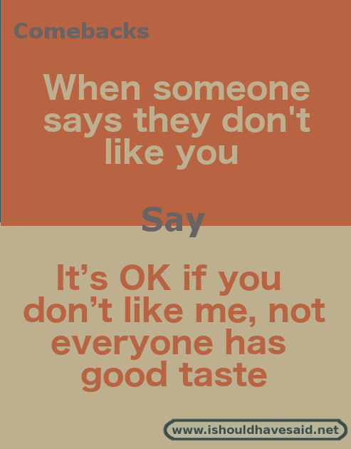What to say when someone says,