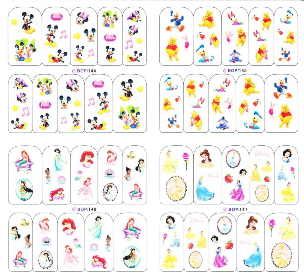 Disney nail decals | Disney stuff <3 | Pinterest | Disney nails ...
