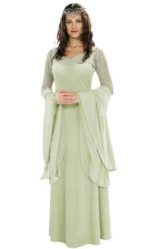 Deluxe Arwen Costume - Lord of the Rings Costumes Halloween - green dress halloween costume ideas
