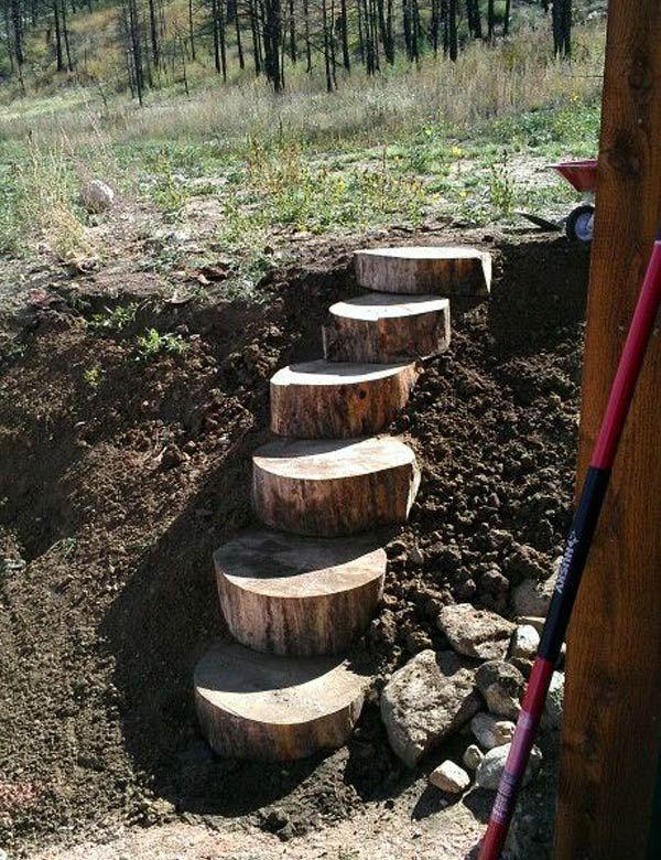 19 amazing diy tree log projects for your garden do it yourself 19 amazing diy tree log projects for your garden solutioingenieria Images