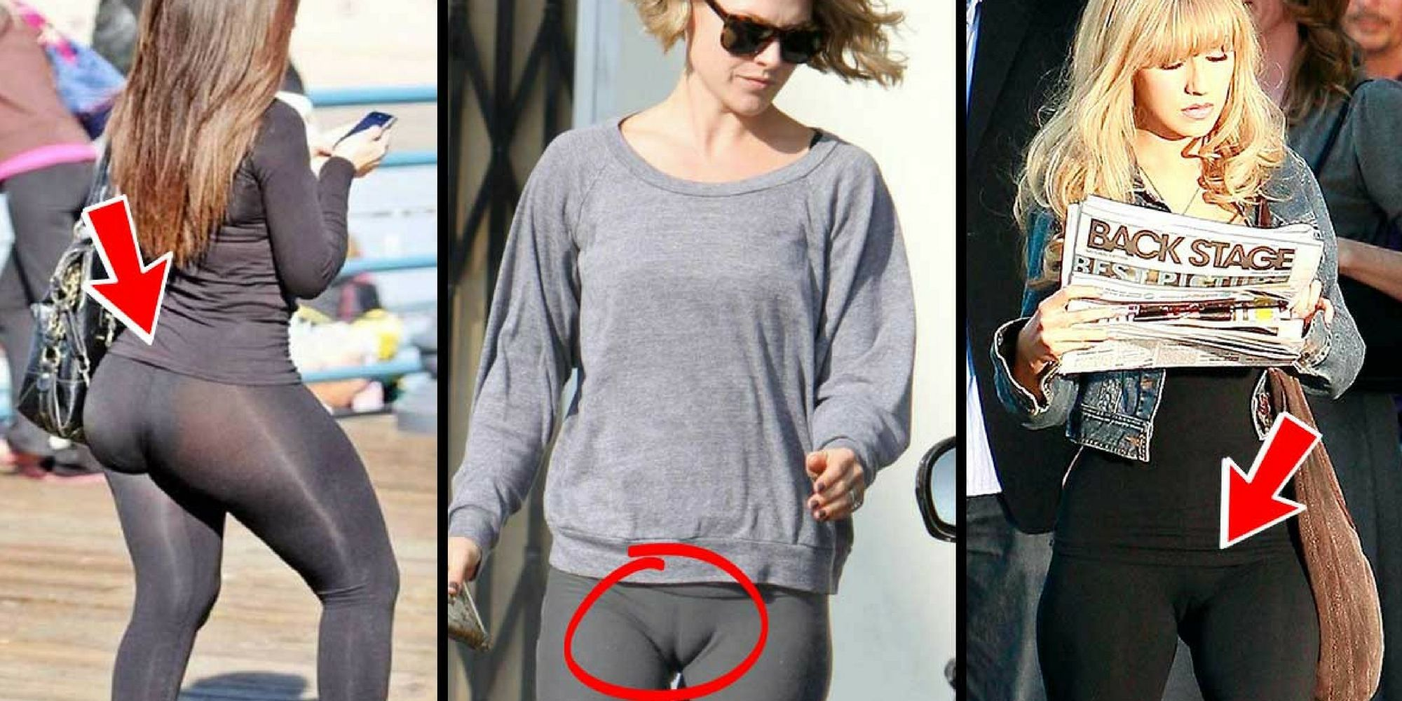 nice 8 Embarrassing Photos Of Celebrities Wearing Their Yoga Pants Way Too Tight