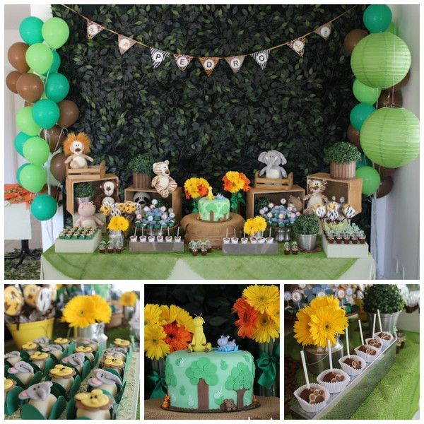 Party Animal 1st Birthday First Birthday Ideas: Jungle Animal Party €� 1st Birthday