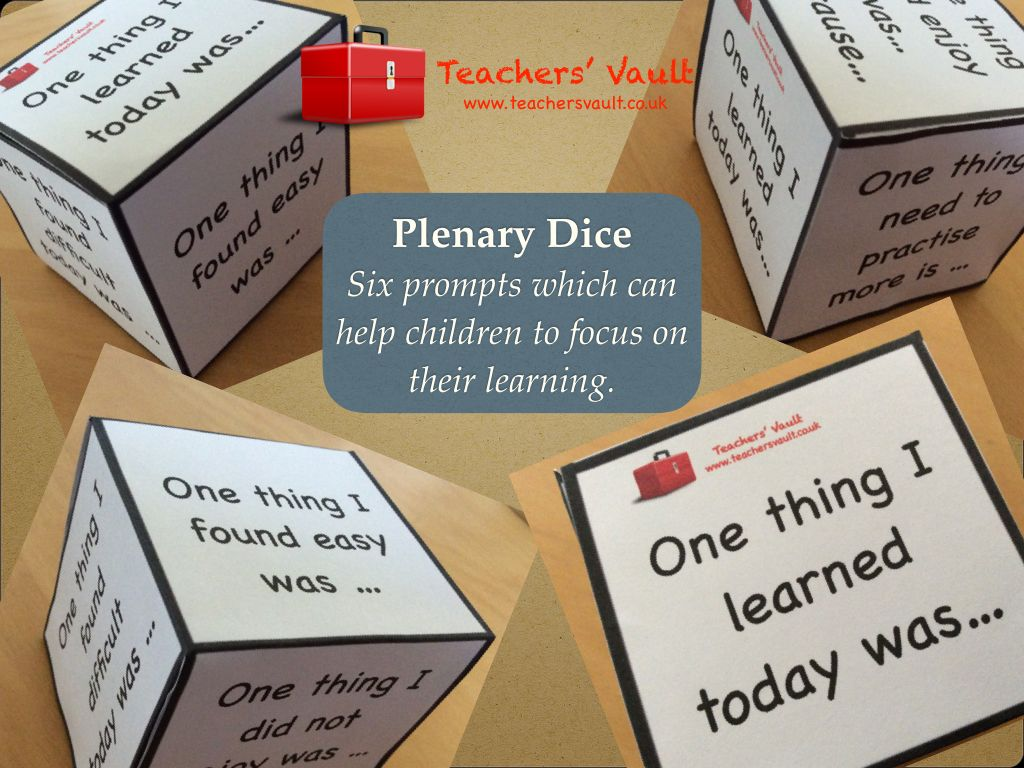 Plenary Dice  Teaching Resources Eyfs, Ks1, Ks2