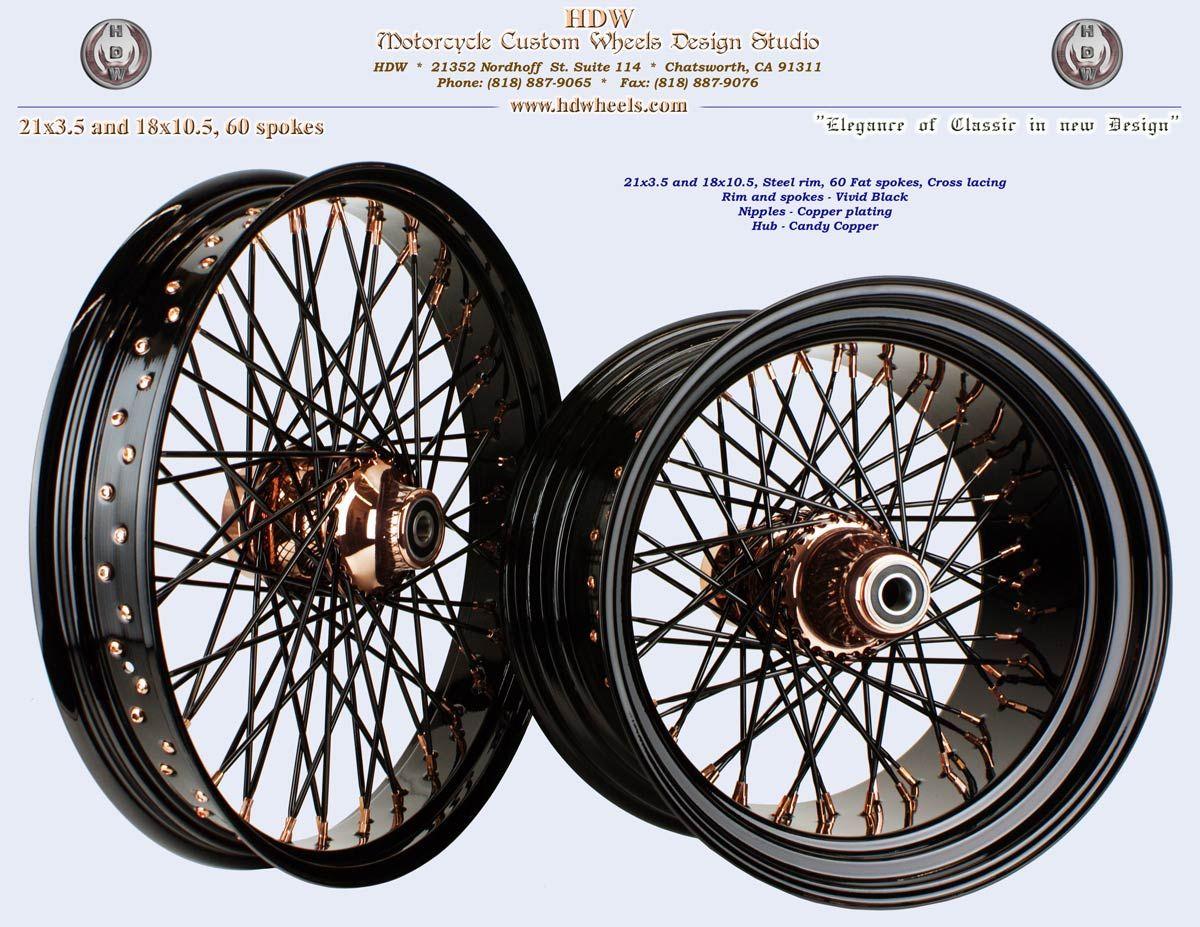 Http Www Hdwheels Com Images 40 60 Spoke Wheel60high 21x3 5 20and 2018x10 5 2060 20fat 20spoke 20vivid 20black 20rim 20and 20spokes 20co Image Bike Car Wheel