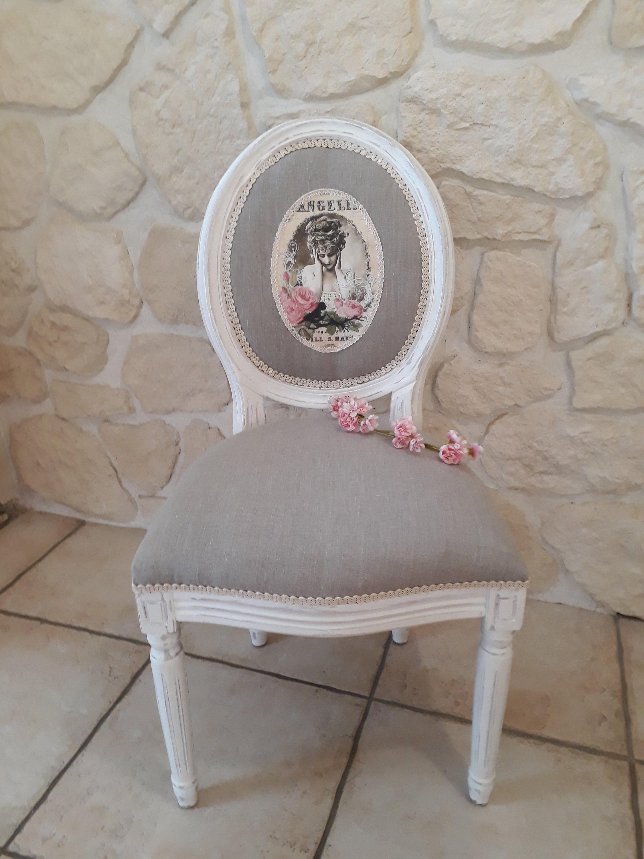Renover Une Chaise Medaillon chaise médaillon relookée style romantique et patinée en