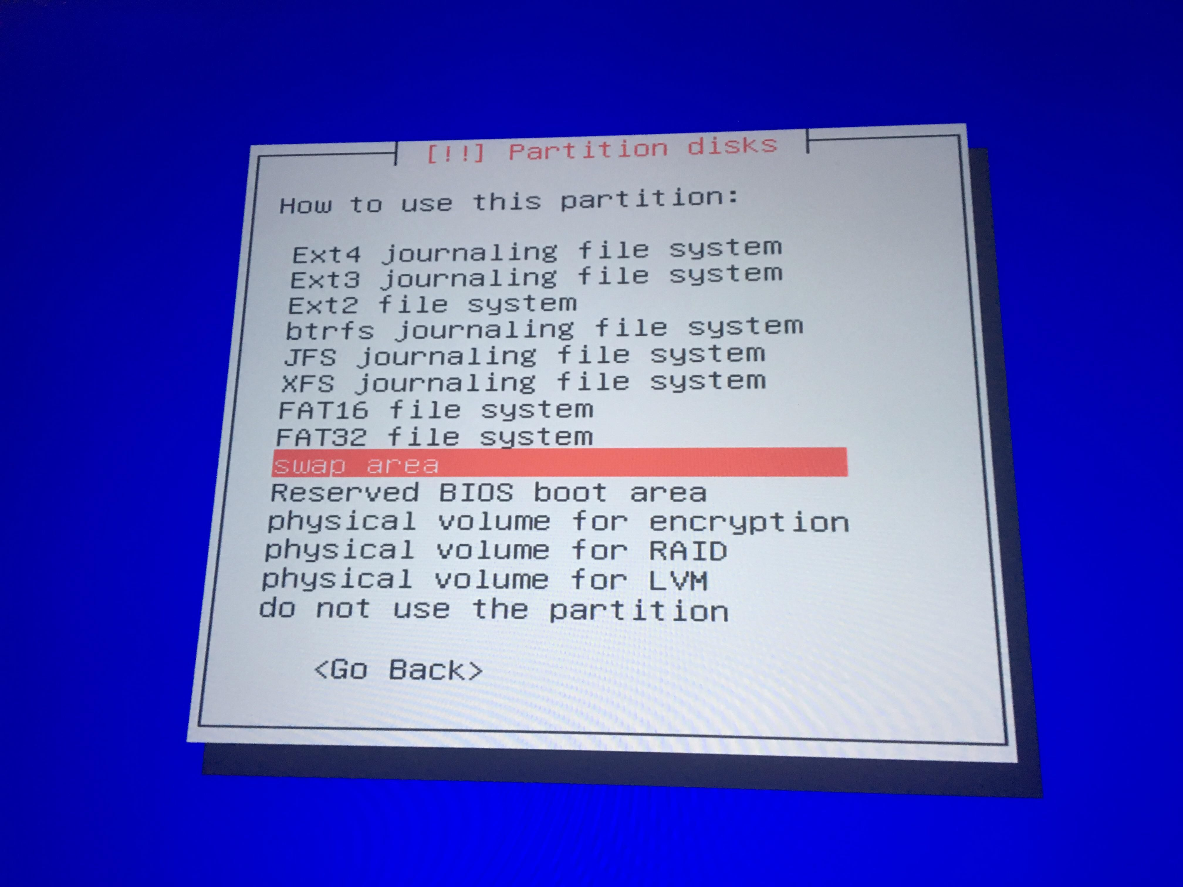 Which option should I pick for installing a dual-boot using