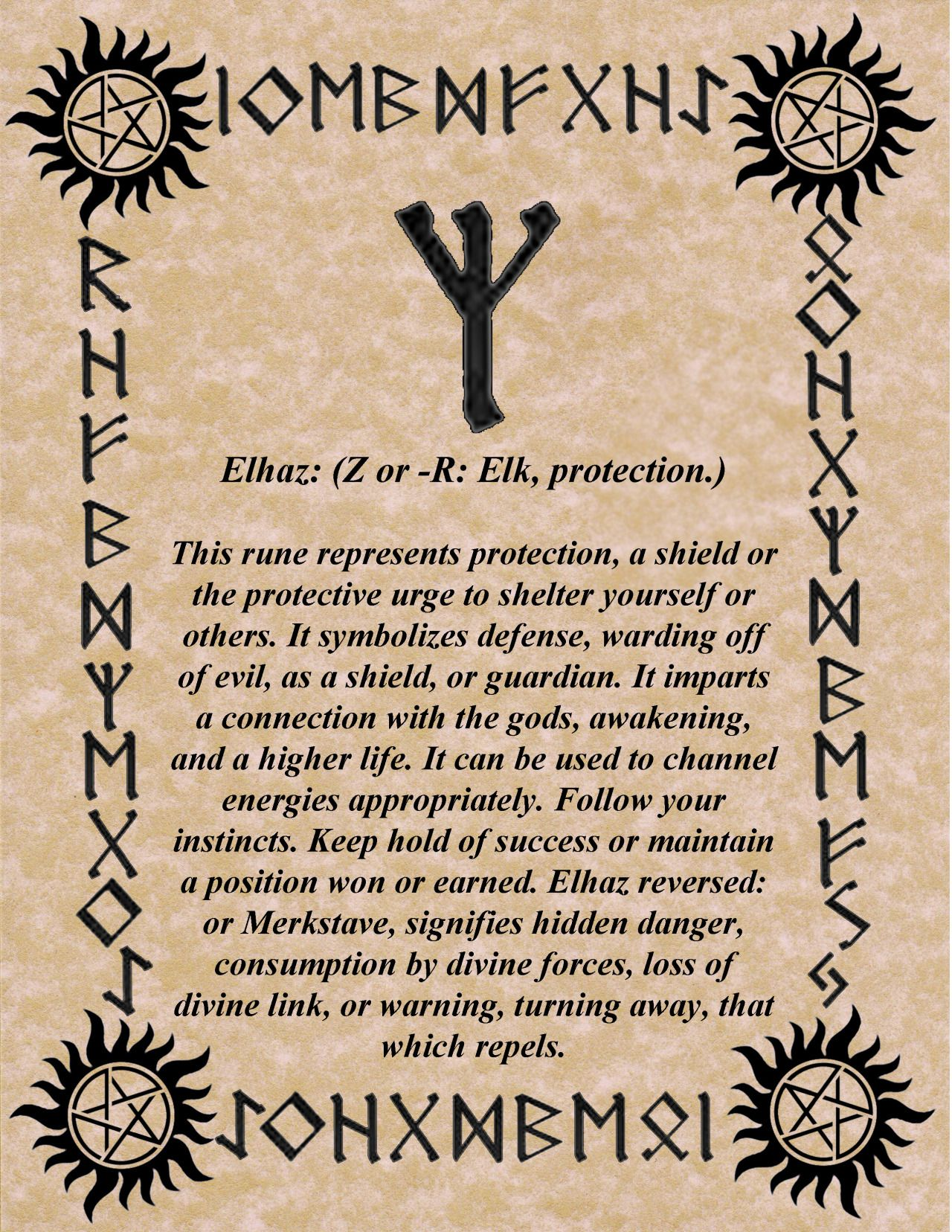 RUNE OF THE DAY WE ALL NEED A LITTLE PROTECTION THIS TIME OF YEAR! BLESSINGS! GALLAN