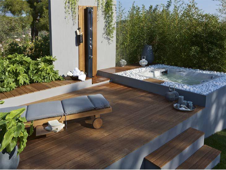 Le bois passe en terrasse leroy merlin ext rieur idee pinterest leroymerlin fr for Petite terrasse en bois