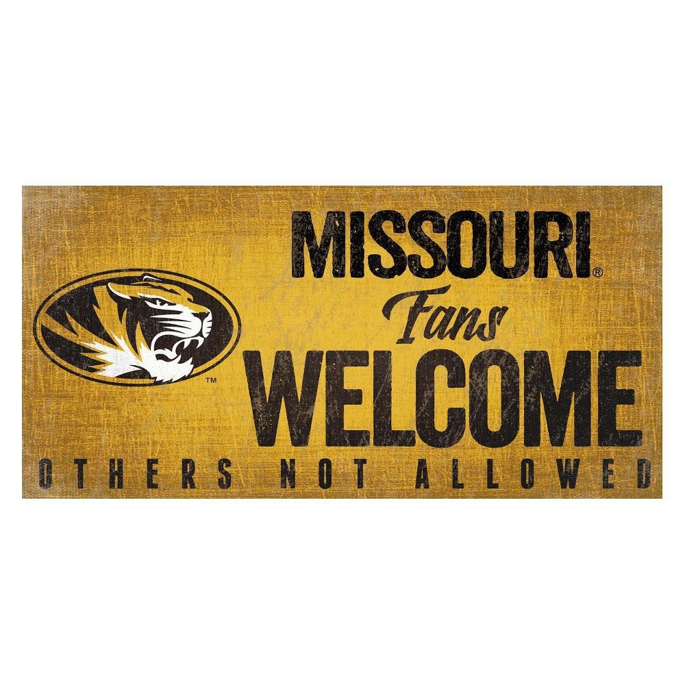 NCAA Fan Creations Fans Welcome Sign Missouri Tigers   Products