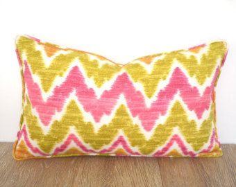 Check Out Ikat Outdoor Lumbar Pillow Case 20x12, Chevron Chair Cushion  Outdoor Fabric, Geometric