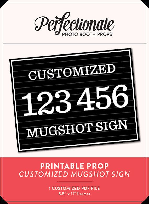 DIY Mugshot Sign Mugshot Template Unlimited Personal Use
