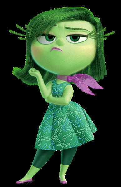 Disgust Inside Out Transparent Png Image Cartoon Cartoon Personagens Pixar Arte Da Disney