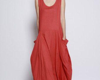 Maxi vestido de blanco / único flojo montaje por Sophiaclothing