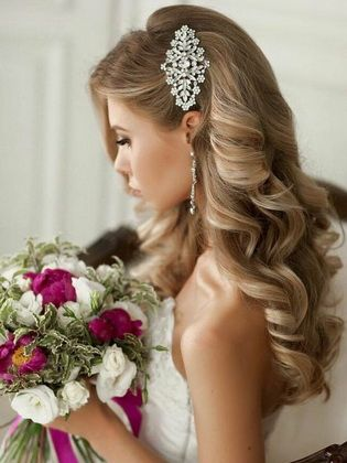 Beautiful wedding hairstyles with curls - hairstyleto #bridalhair