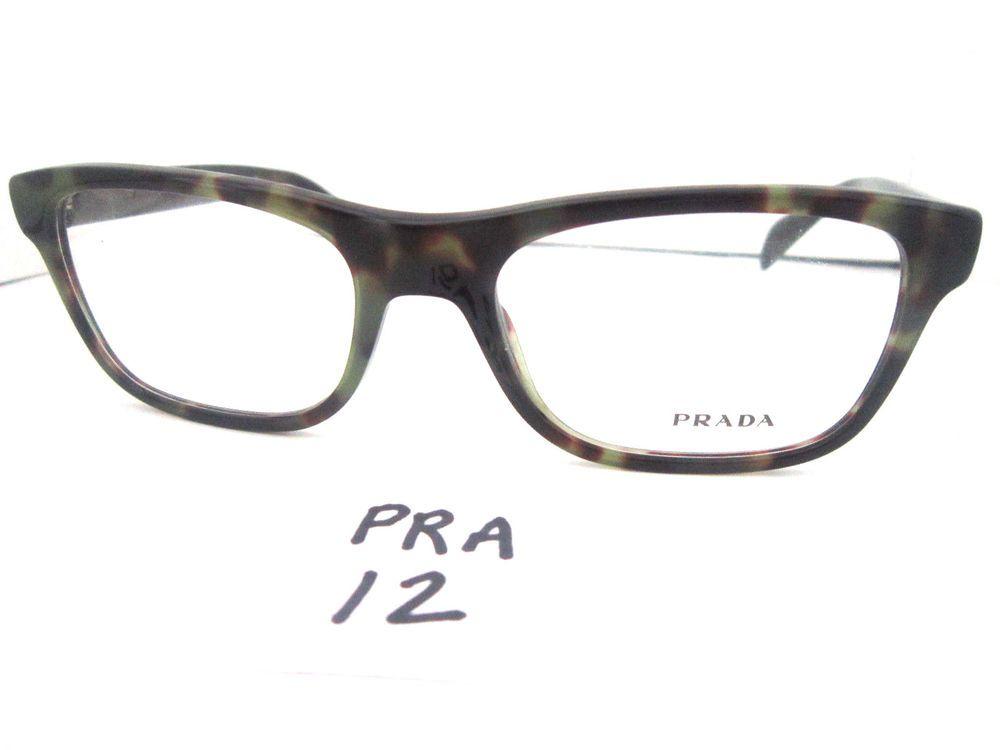 New PRADA Eyeglasses Frame in Camouflage Color VPR O80 2AU-101 (PRA ...