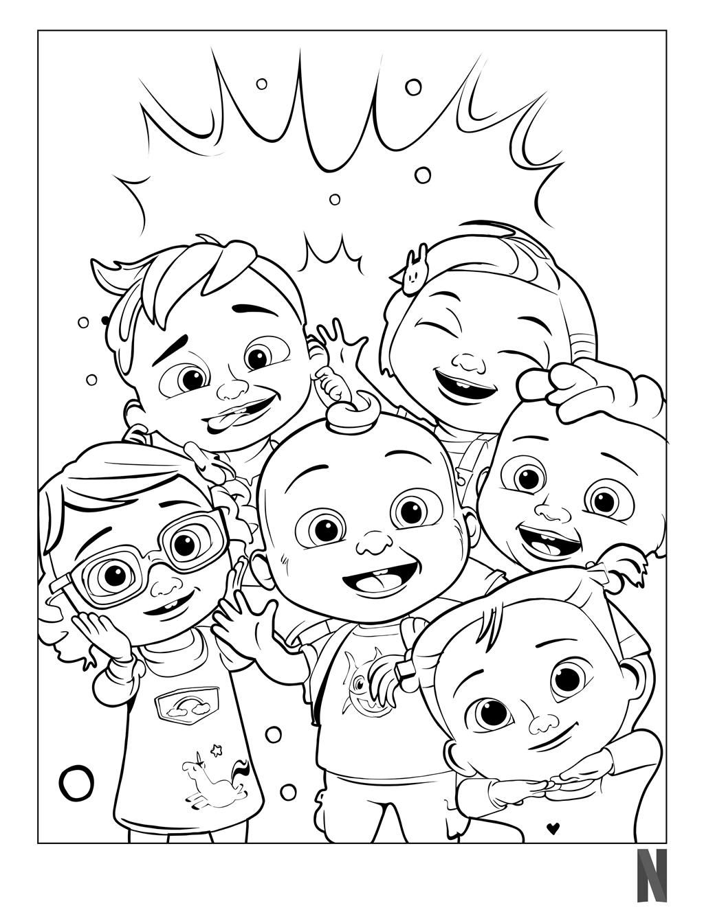 CoComelon Coloring Pages Characters. in 19  Birthday coloring