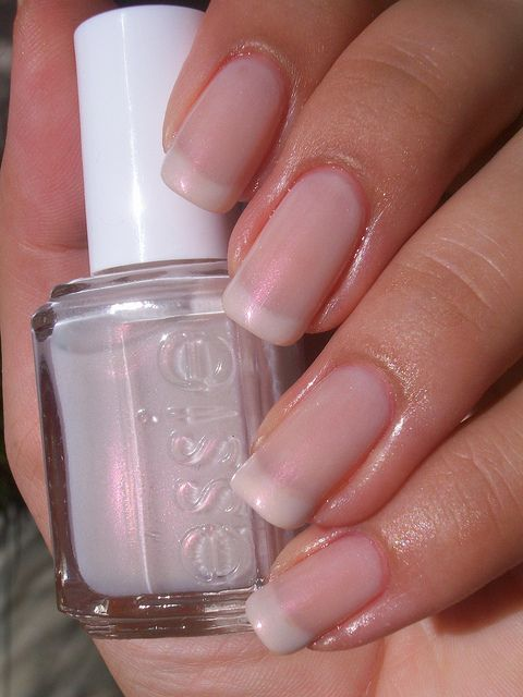 Essie Mademoiselle, Marshmallow, Guadeloupe Opal French Manicure ...