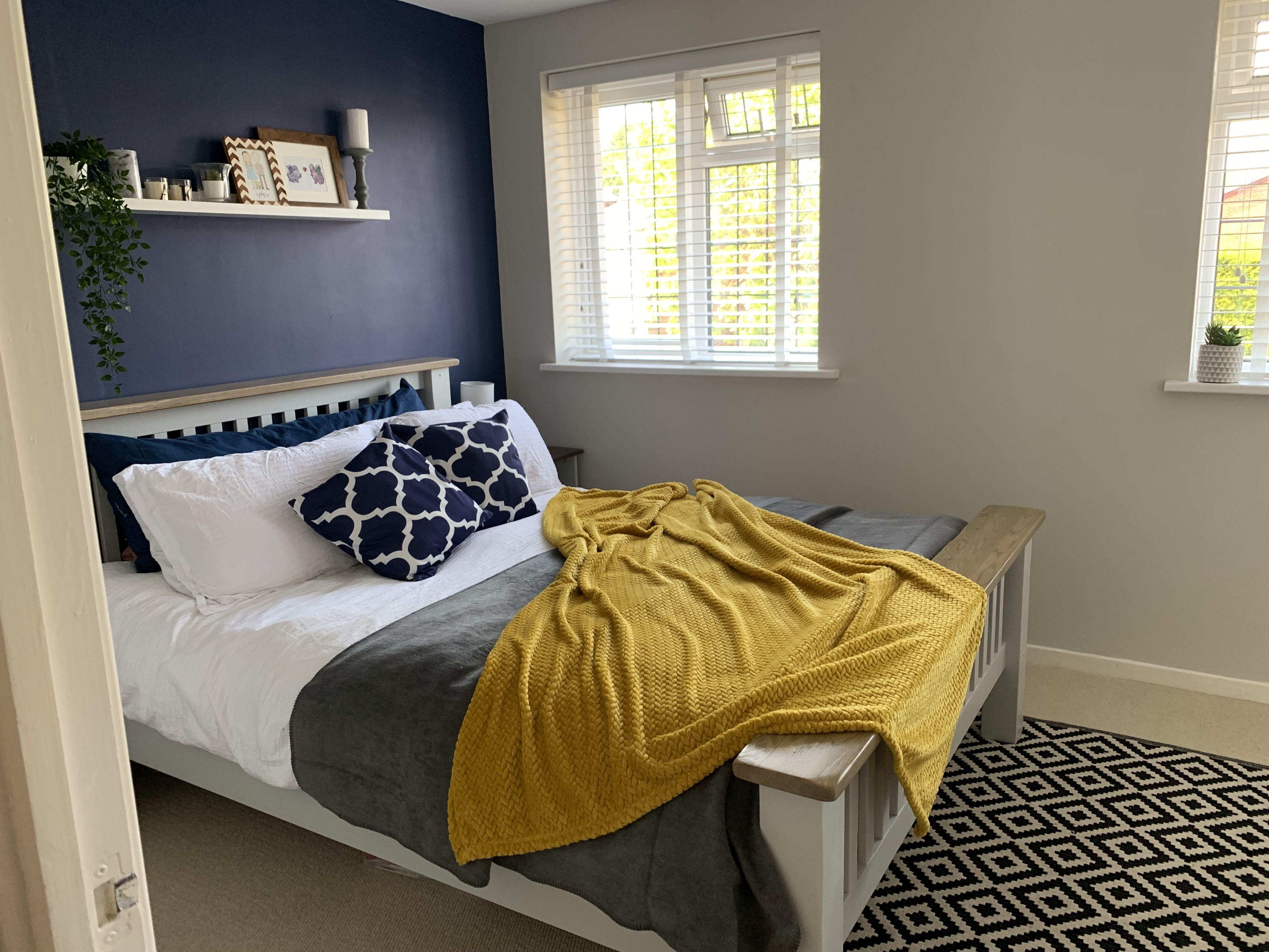 Navy Mustard Gray Bedroom Yellow Bedroom Decor Navy Yellow Bedrooms Blue Bedroom Design