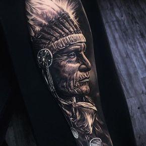 sabiduría #sleevetattoo #realistic #blackandgrey #hernanyepes_art #indio  @the.best.tattoo.page @tattoodo