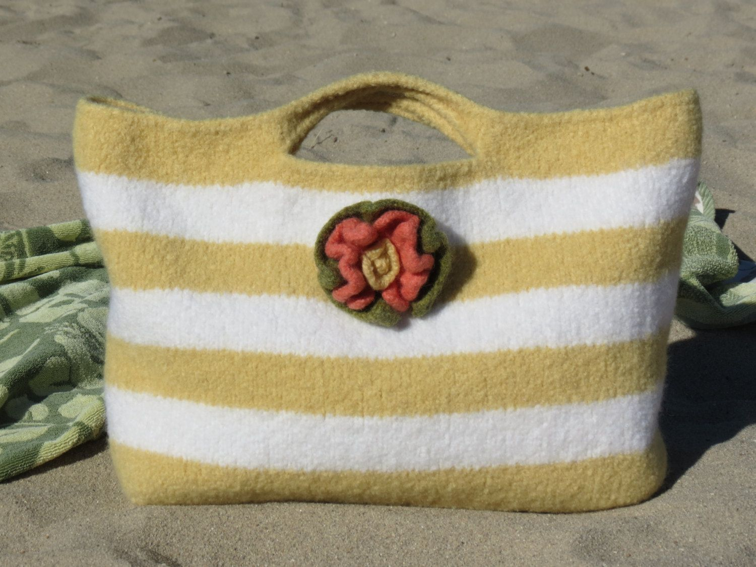 Knit and Felted Bag Pattern, Market Bag - Tote - Purse - Summer Sun ...