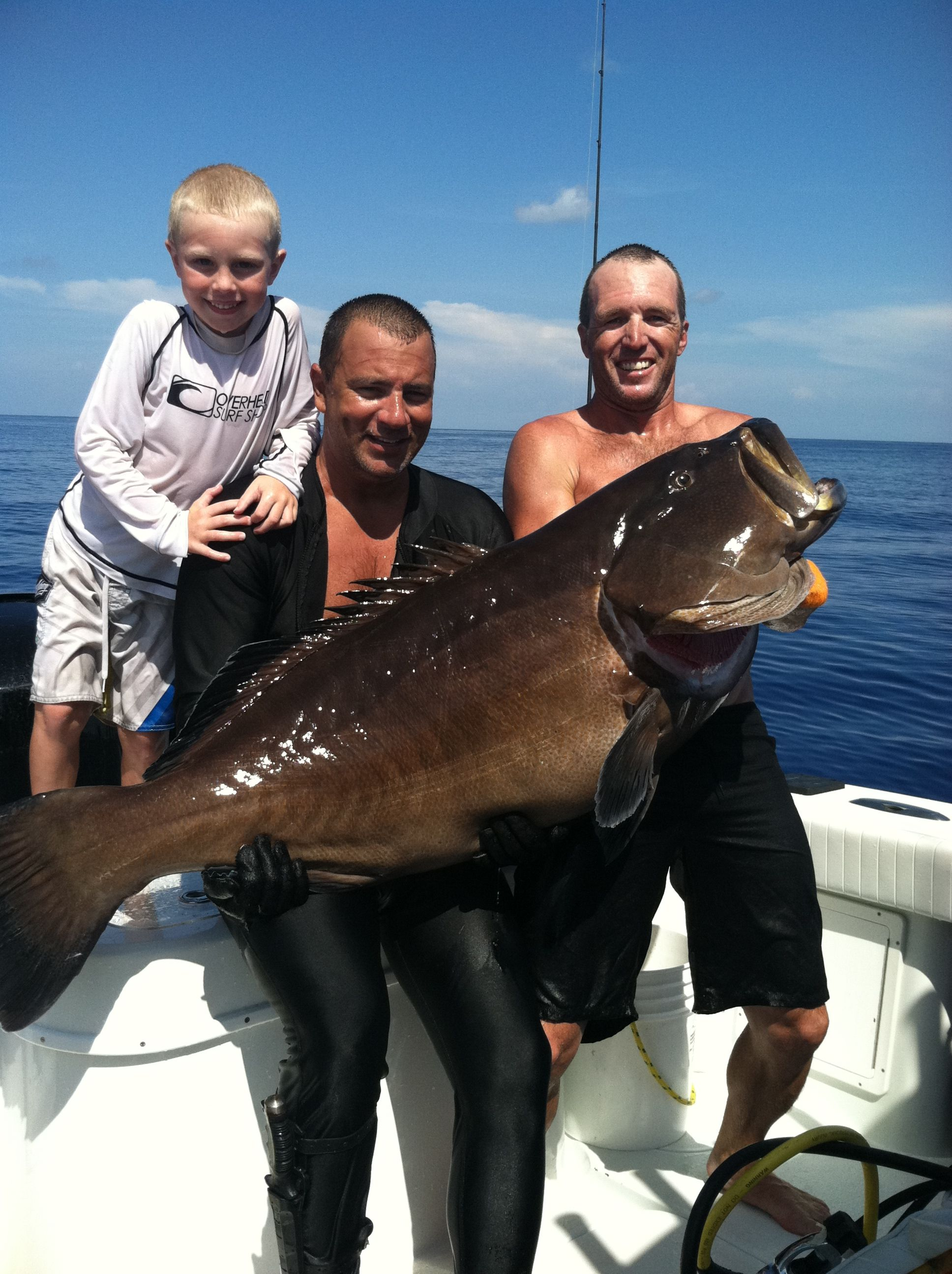 Imagine Catching A Giant Black Bigger Than Your Son! That
