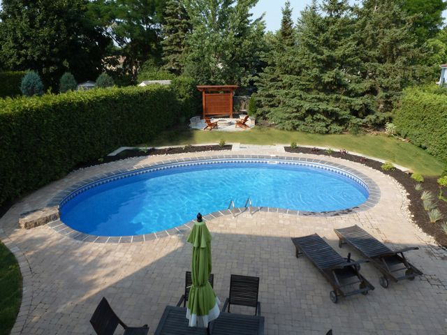 Backyard getaways custom swimming pools backyards for Simple backyard pools