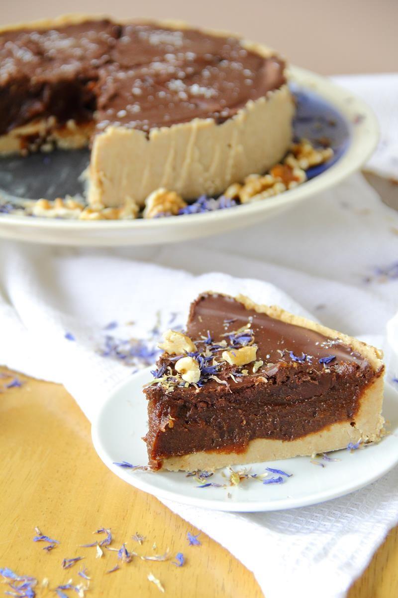 No Bake Vegan Millionaires Shortbread Pie