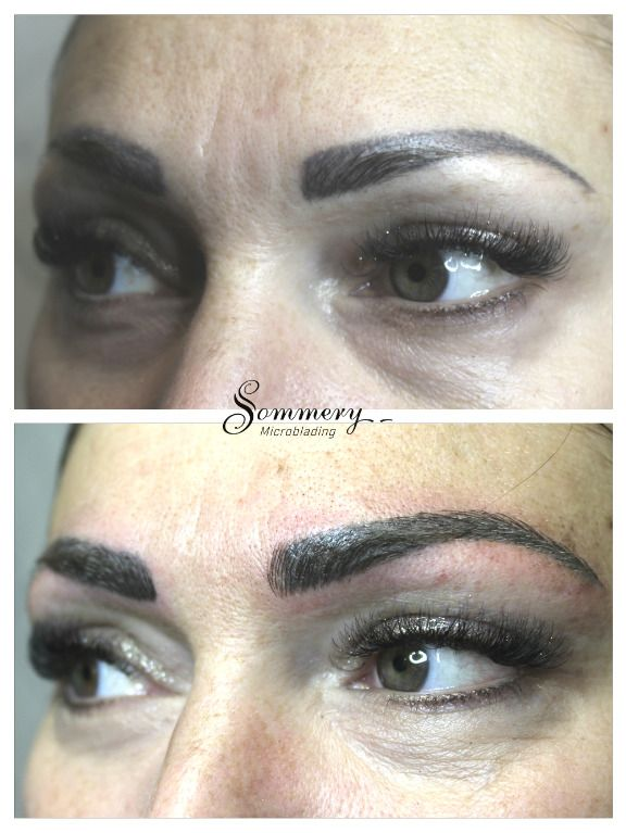 Old PMU covered by microblading technic | Microblading