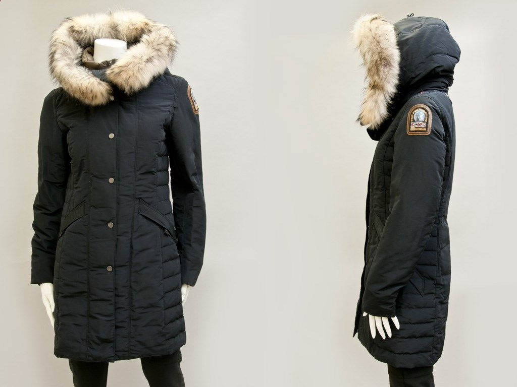 parajumpers angie review; parajumpers angie 7 8 slim parka with attached interior real down feather zip vest and fill