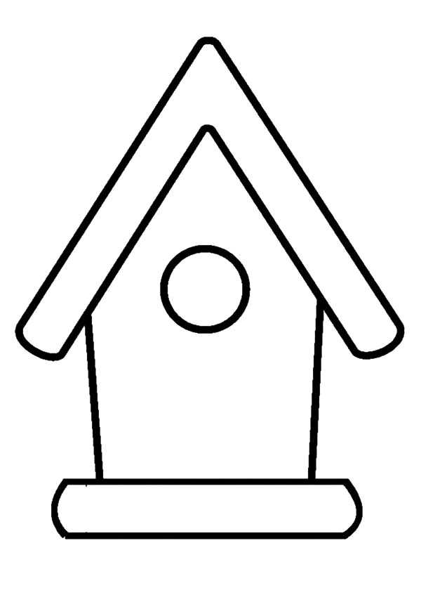 Bird House Outline Coloring Pages Best Place To Color House Colouring Pages House Outline Coloring Pages