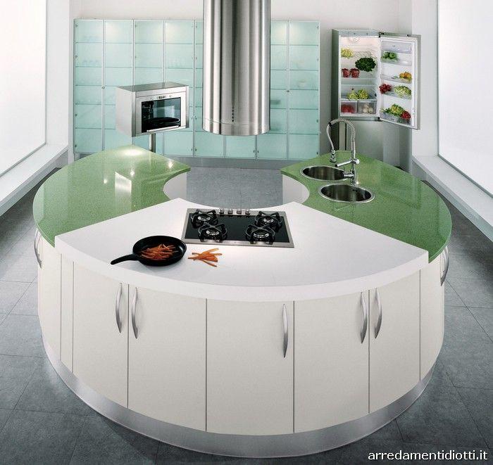Cucine Moderne Con Isola Rotonda.Cucina Rotonda Geosfera Con Penisola Curva Diotti A F