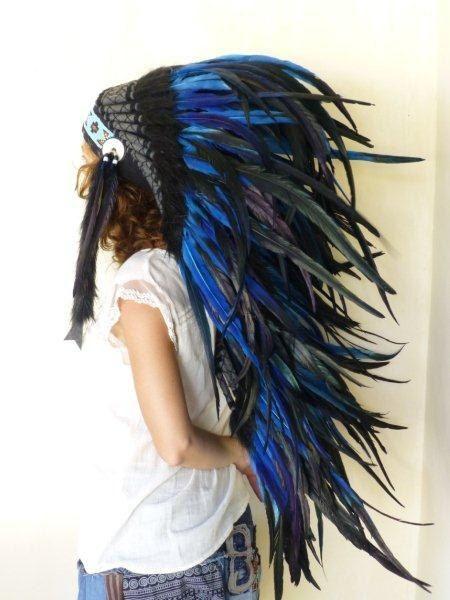 coiffe indienne electric blue photographie pinterest coiffe indienne accessoires pour. Black Bedroom Furniture Sets. Home Design Ideas