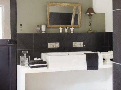 images about salle de bain studio on pinterest coins totems and tile hauteur carrelage with hauteur faience salle de bain - Hauteur Carrelage Salle De Bain