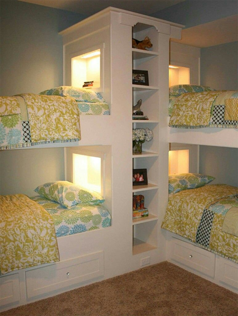 Ideal for big families. Bunk beds. Kids rooms. Shared