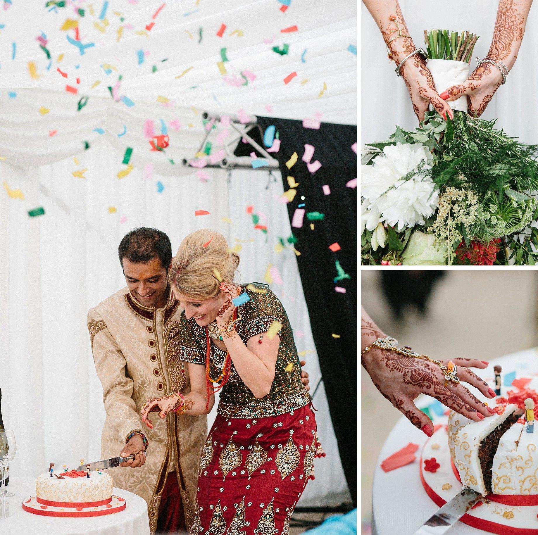 hindu wedding cake cutting harewood house  mark newton weddings fun