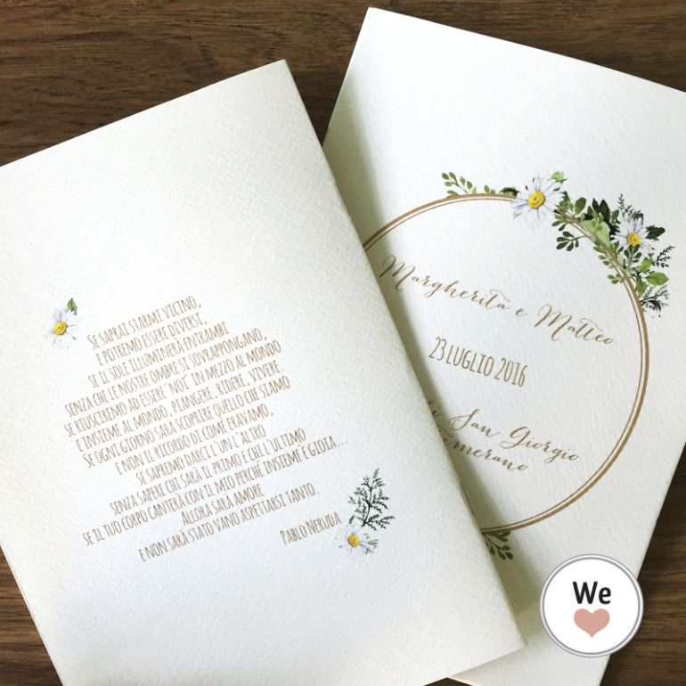 Pin Su Wedding Libretto Messa