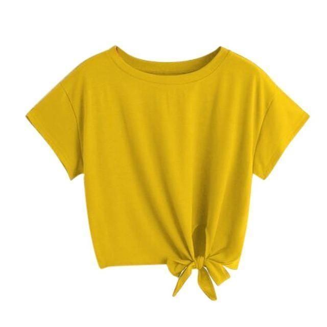 yellow t shirt women's