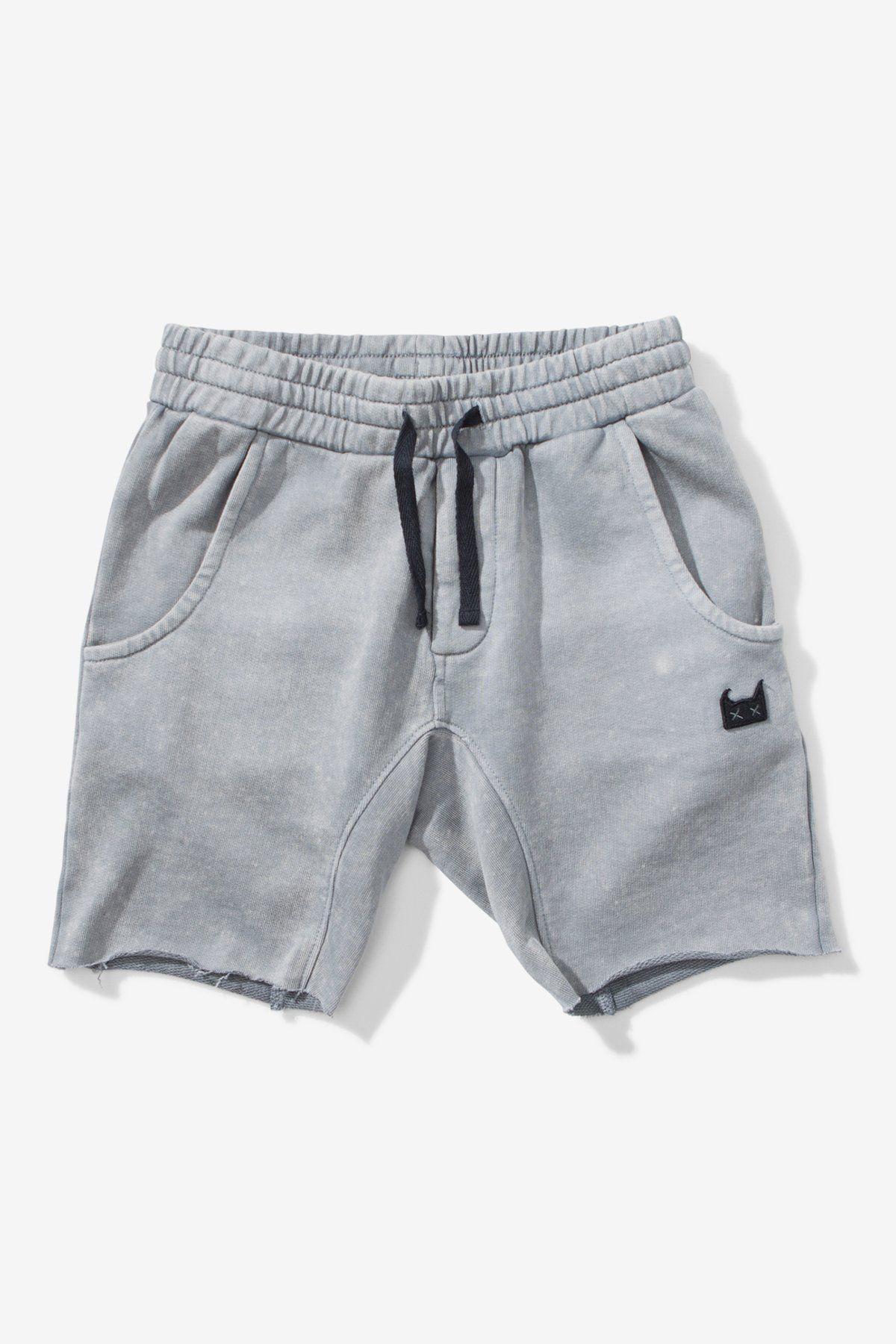 Munster Kids All Faden Shorts - Washed Grey