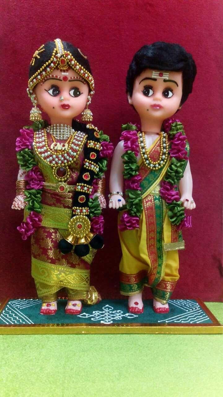 DOlls as bride and Groom...... … Wedding doll, Indian dolls