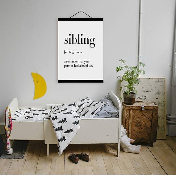 Freeshipping Black White Sibling Family Quotes A4 Poster Wall Art ...