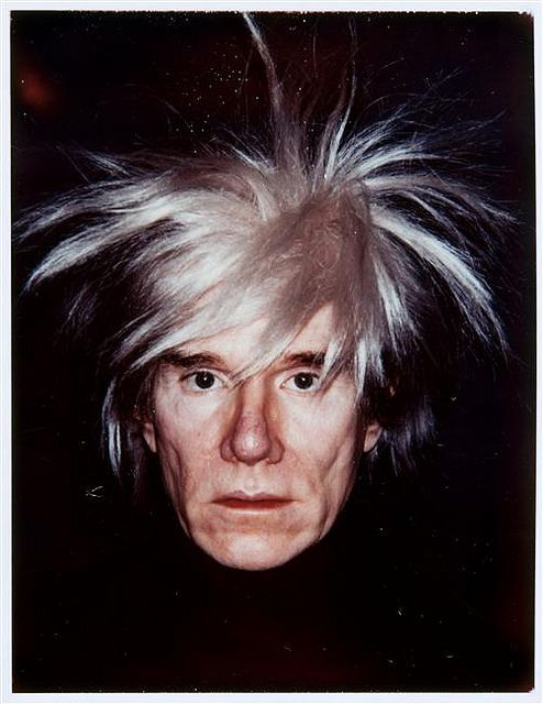 andy warhol self portraits fright wigs