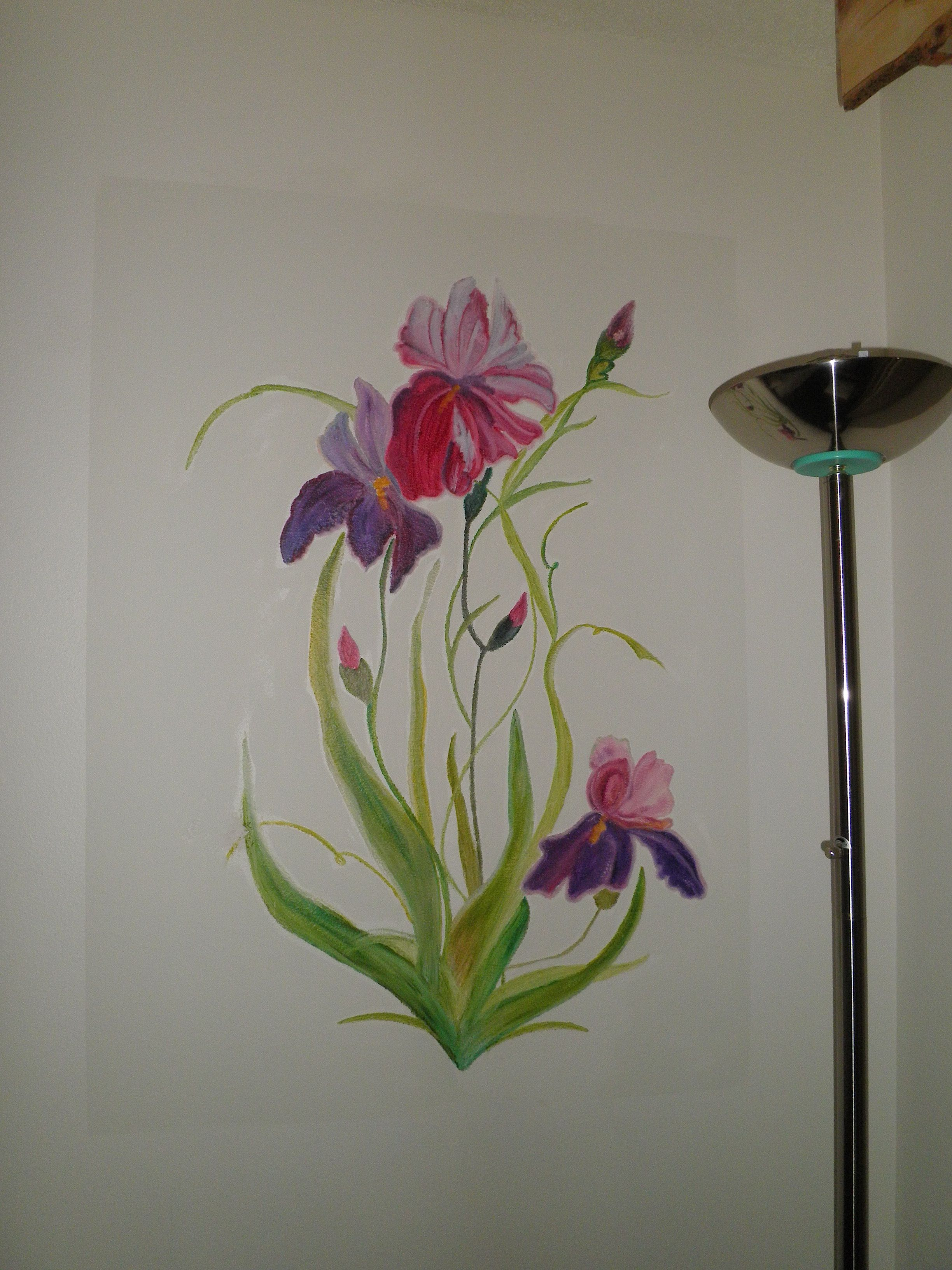 Flower Mural Pretty And Simple Flower Mural Tree Mural Wall Painting