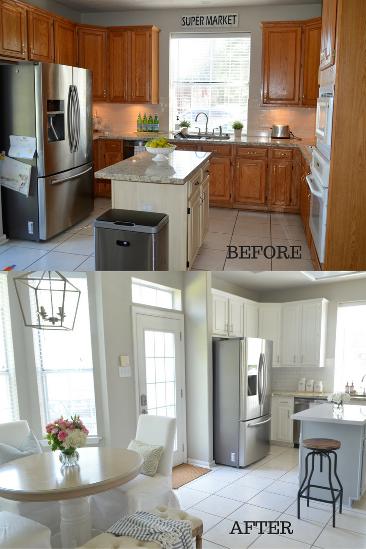 Best Before And After Farmhouse Kitchen Makeover Featuring 400 x 300
