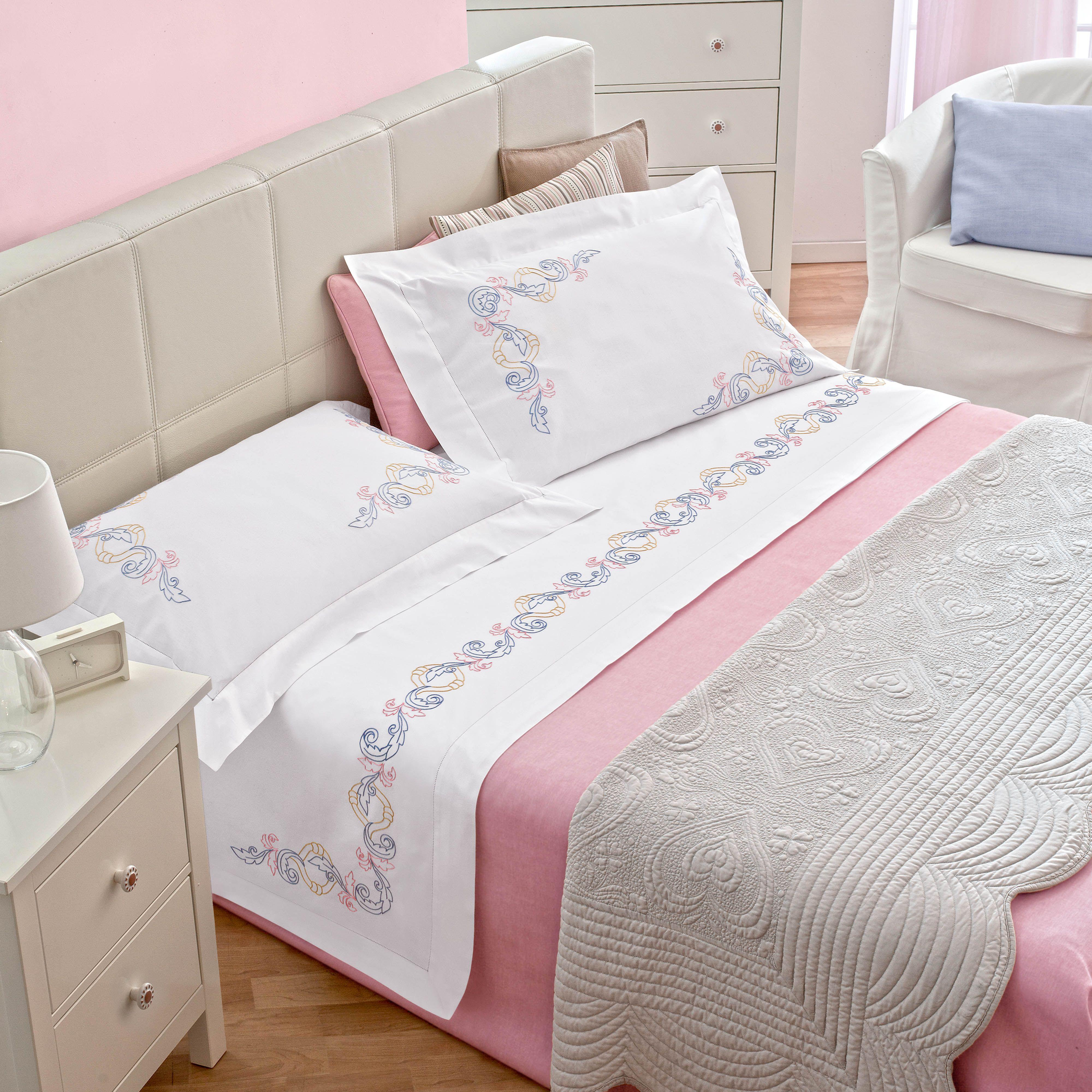 Cotone disegnato per p letto matrimoniale for Biancheria per letto matrimoniale