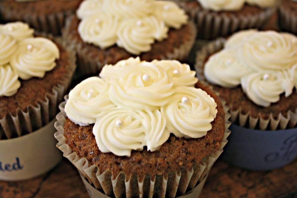 Carrot cake with bavarian cream filling cupcake cupcake