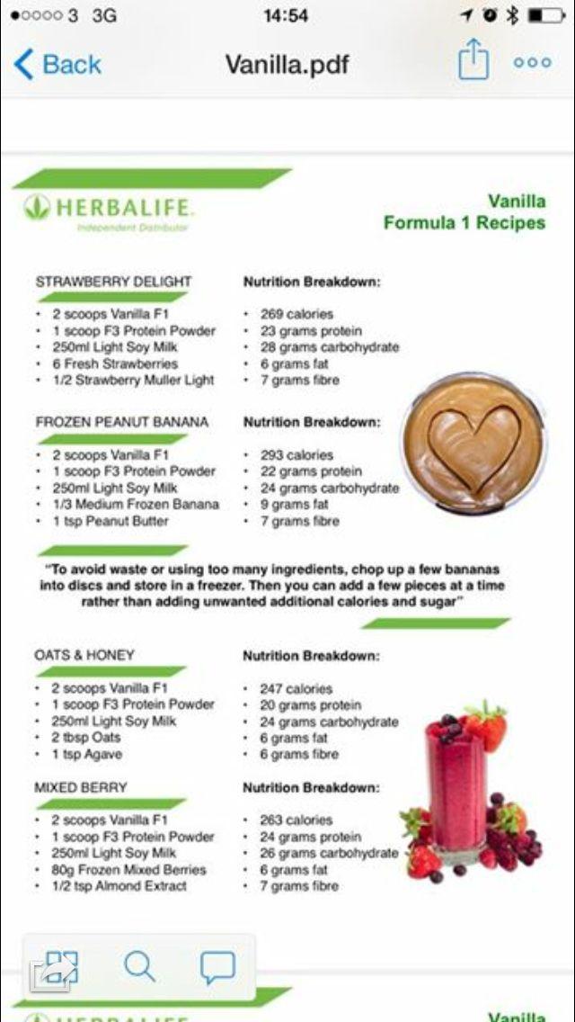 Shakes- herbalife  Herbalife recipes, Herbalife shake recipes